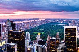 Coucher de soleil City, new york, central park