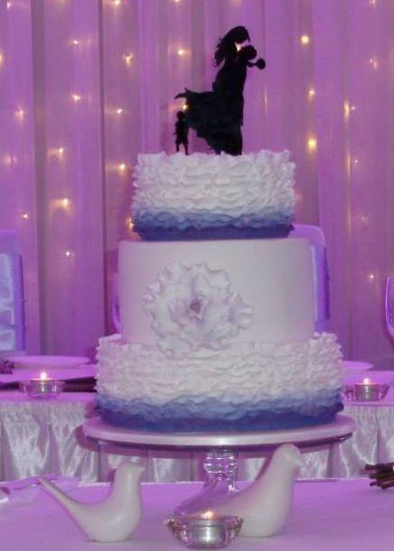 Ruffled ombre wedding cake. www.smalldelights.net.au