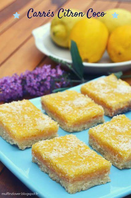 Carrés citron coco