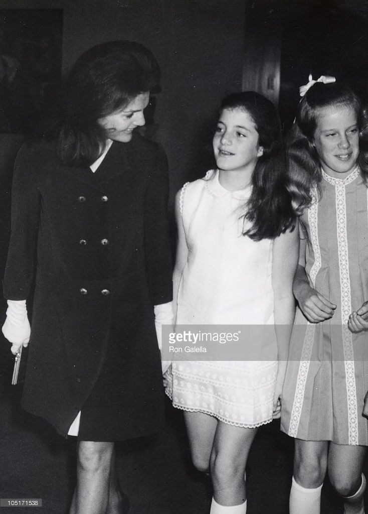 Caroline Kennedy & Jackie Onassis during Royal Ballet performing 'Sleeping Beauty' at Metropolitin Opera House in New York City, New York, United States.