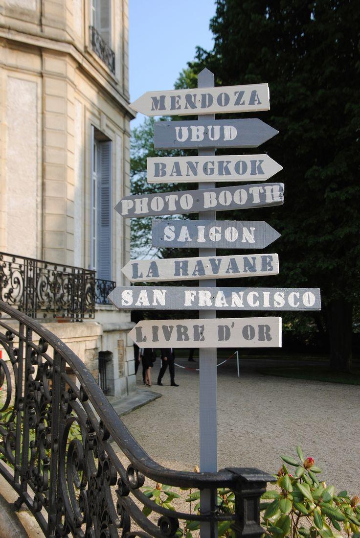 Les 25 meilleures id es concernant panneaux de direction for Decoration jardin panneau bois