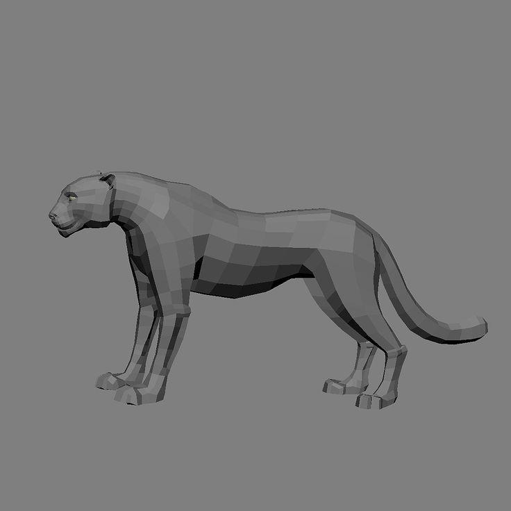 Black Jaguar Growl: Black Panther 3D Model - 3D Model