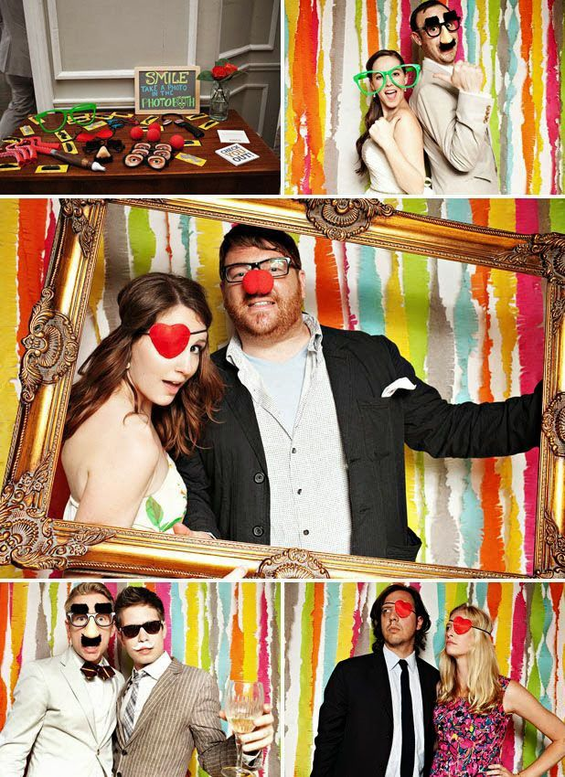 Ideas originales para tu photobooth via BodaBella.es