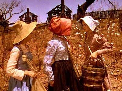 Scarlett and her sisters picking cotton at Tara