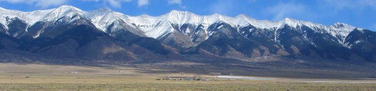257. The southernmost sub-range of mountains that make up the Rocky Mountains chain is the Sangre de Cristo Mountains, shown here snow-capped. These mountains were home to Apache Indians, and later to the early Spanish settlers. www.almascarenas.com