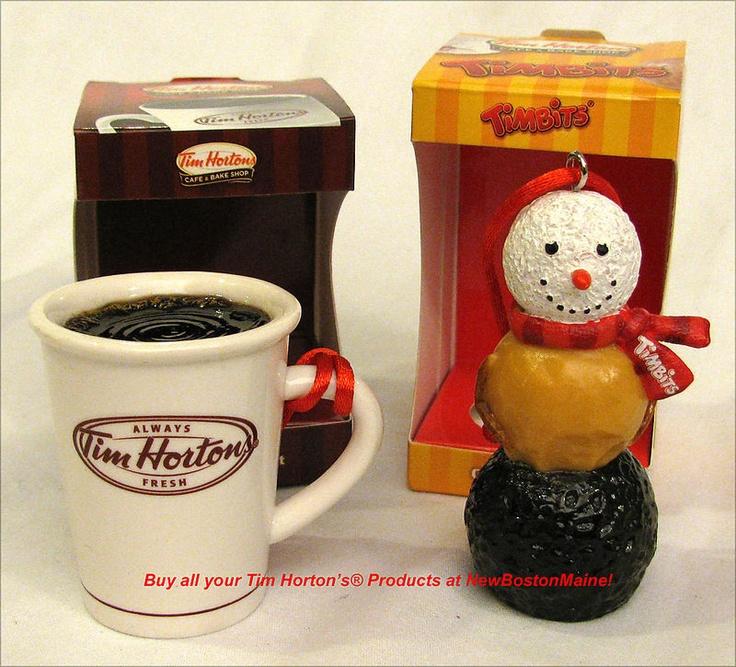 Tim Hortons Ordaments!  Coffee Cup & Tim Bits Snowman.
