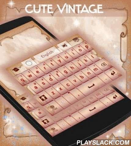"""Cute Vintage Keyboard  Android App - playslack.com ,  Onze ontwerpers hebben een vintage meesterwerk voor uw smartphone : Leuke uitstekende TOETSENBORD ! DOWNLOADEN Leuke Vintage Keyboard nu en geniet van de papyrus als ontwerp op uw beeldscherm !- Om te installeren , volg gewoon de 3 stappen : open na het downloaden , drukt u op """"Instellen als Active Theme"""" en selecteer het thema van de volgende pagina !- De verbazingwekkende HD screenshots voegden wij zullen u laten zien hoe groot dit…"""