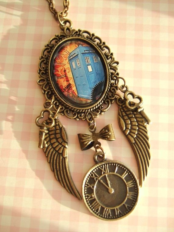 Wow! Doctor Who, the Tardis, steam punk, and the Eiffel Tower, all in one! (Now that's pure ecstasy!) Doctor Who Steampunk Pendant (Love it!)