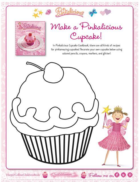 Make a Pinkalicious cupcake! http://files.harpercollins ...