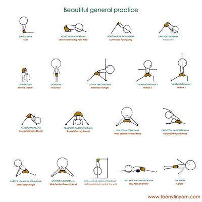 Séquence générale de postures Iyengar 1