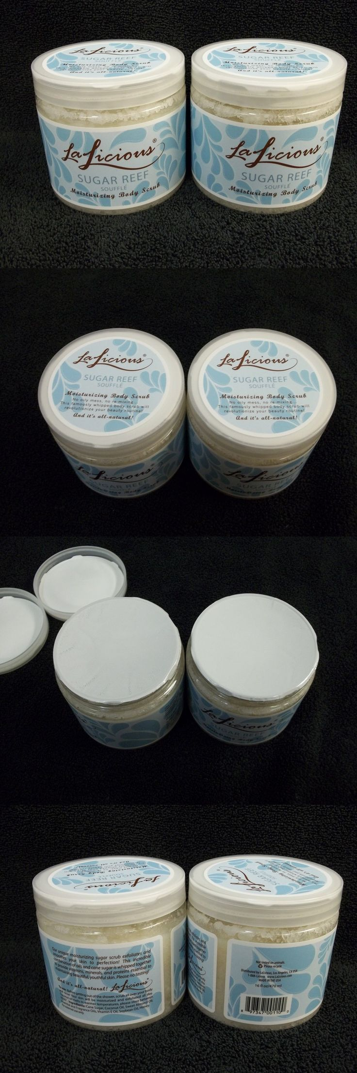 Body Scrubs and Exfoliants: New And Sealed Lalicious Sugar Reef Souffle Moisturizing Body Scrub Two 16 Oz Jars -> BUY IT NOW ONLY: $58.88 on eBay!