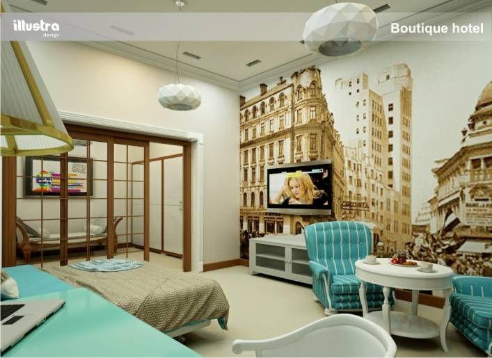 rander 3d design boutique hotel room
