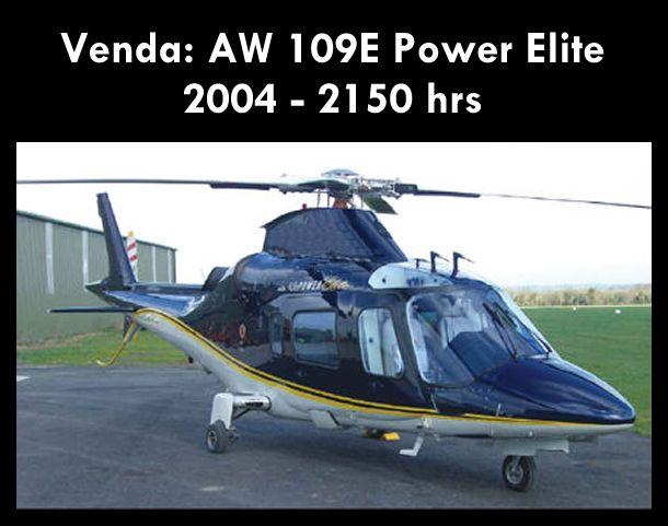 Aeronave à venda: Agusta Westland AW 109E Power Elite, 2004, 2150 hrs. #agusta #agustaelite #agustapowerelite #agustawestland #aw109epower #agustapower #airsoftanv #a109epower #aircraftforsale #aeronaveavenda #pilot #piloto #helicoptero #aviation #aviacao #heli #helicopterforsale  www.airsoftaeronaves.com.br/H231