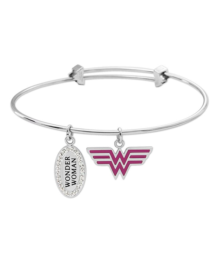 Love this Stainless Steel Wonder Woman Bangle by Jacmel Jewelry on #zulily! #zulilyfinds