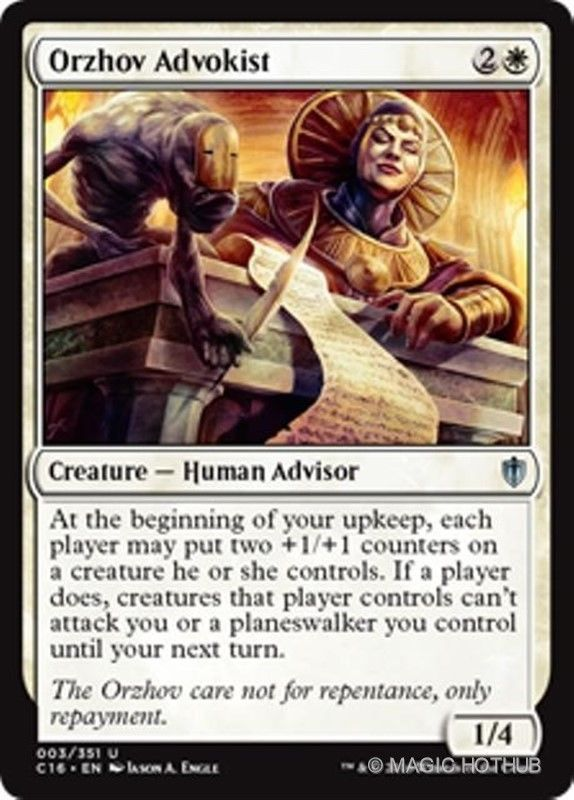 Orzhov Advokist Commander 2016 Mtg White Creature Human Advisor Unc Magic The Gathering The Gathering Magic Cards Orzhov and simic are hard to reconcile. orzhov advokist commander 2016 mtg