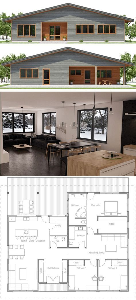 #architecture | Architecture In 2019 | Maison 100m2, Amenagement Maison, Plan  Maison