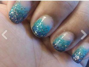 beach nails:) #beach #nails
