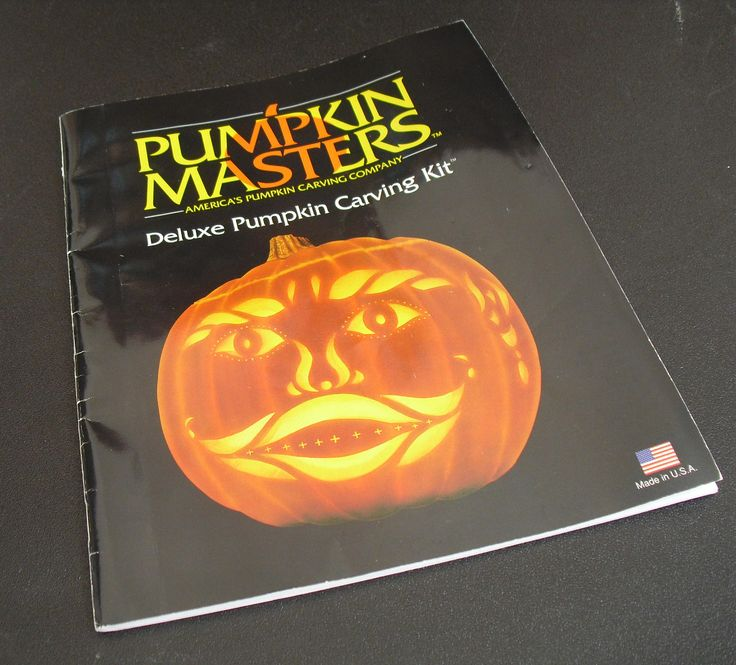 Vintage Pumpkin Masters Deluxe Pumpkin Carving Kit, Instruction Manual, Carving Tools, Patterns, Halloween Folk Art Ideas, Jack O Lanterns by AgsVintageCove on Etsy