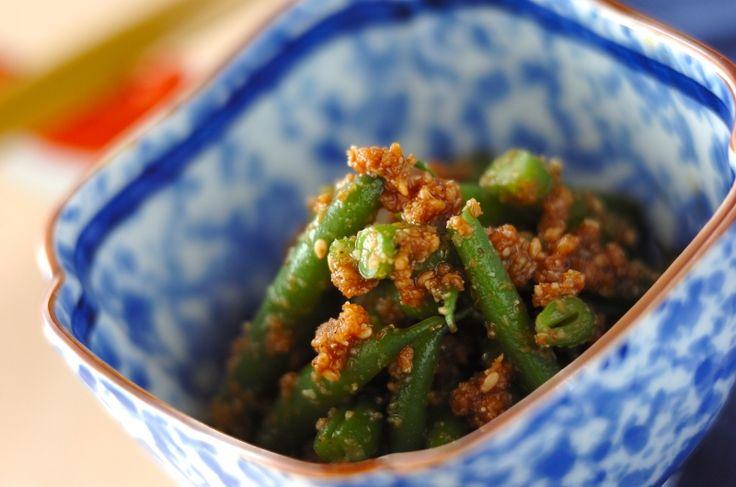 サヤインゲンのゴマ和え[和食/一品料理]2017.07.31公開のレシピです。