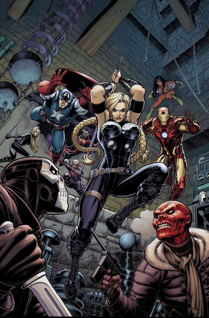 Valkyrie and the avengers
