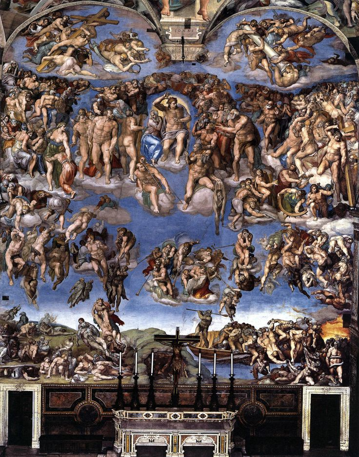 The Last Judgment, or The Final Judgement, is a fresco by the Italian Renaissance master Michelangelo executed on the altar wall of the Sistine Chapel in Vatican City, created between 1535-1541