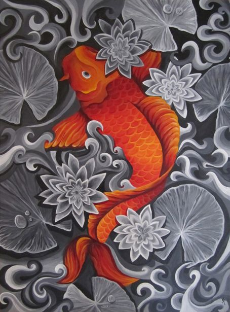 87 best images about fish on pinterest pisces japanese for Koi pond tattoo