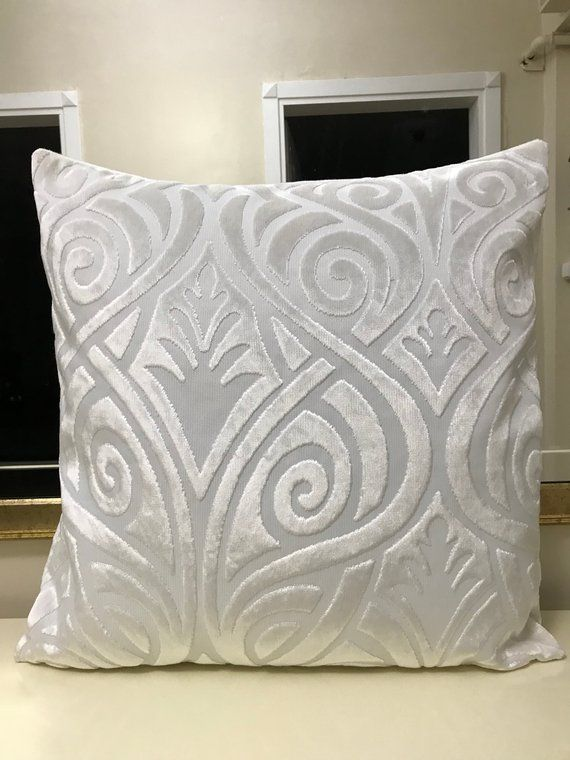 Cream Velvet Throw Pillows Pillow Cover Designer Decorative