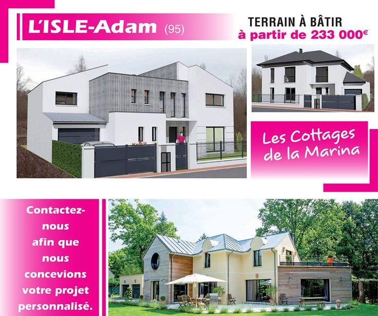 """15 Terrains disponibles d'environ 400m² à L'ISLE ADAM - """"LA MARINA"""" (95) Pour en savoir plus contactez directement l'agence Maisons ERMI Lamorlaye au 0344214949"""
