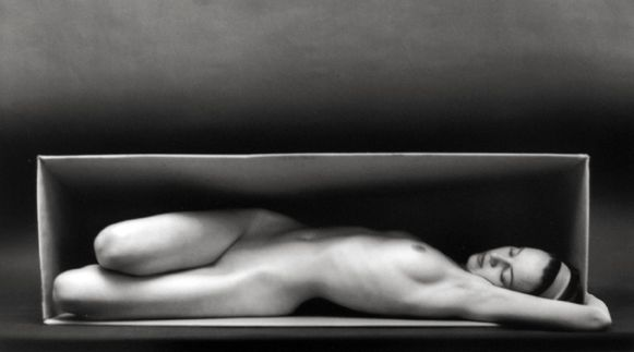 Ruth Bernhard, In the Box- Horizontal, 1962, selenium-toned gelatin silver print