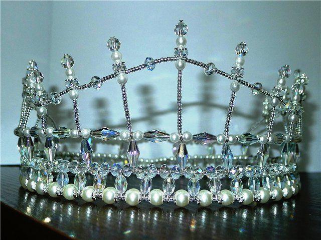 Корона для Снежной королевы | biser.info - всё о бисере и бисерном творчестве