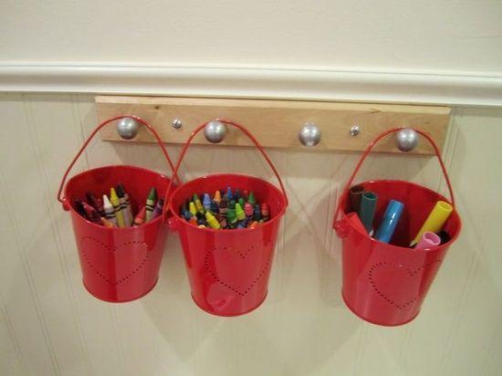 preschool crayon holders.