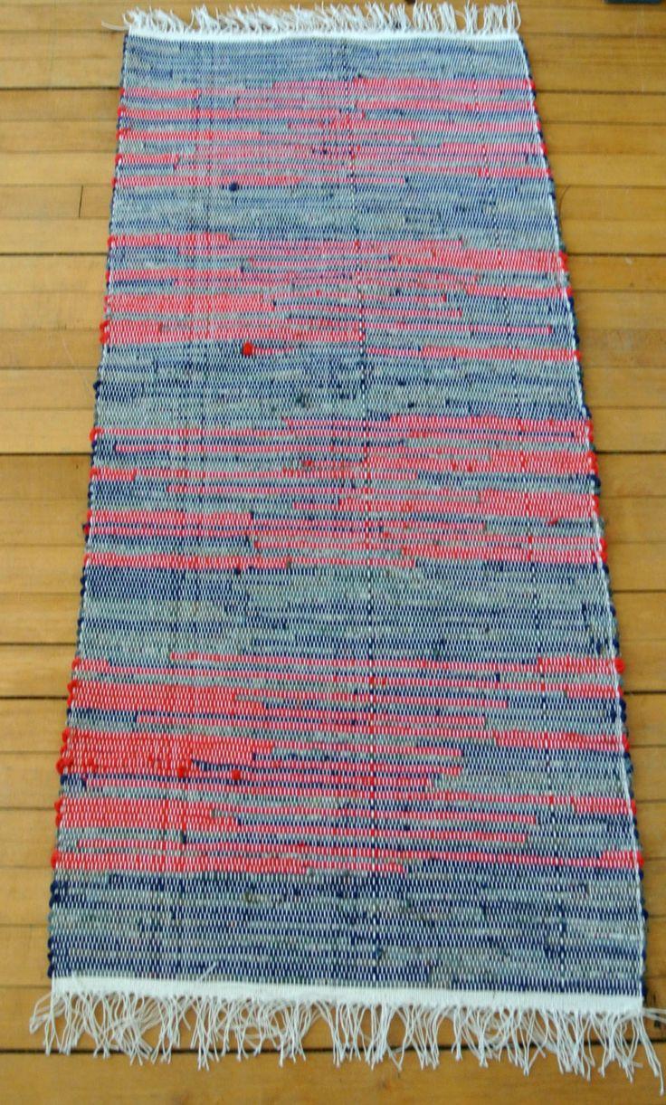 Hand Woven Rag Rug Union #36 Rug Loom Cotton/Cotton Blend  Large Cottage  Chic, Primitive