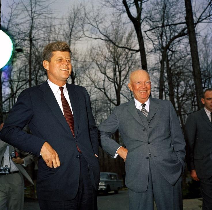 President John F. Kennedy and Former President General Dwight D. Eisenhower Meet at Camp David