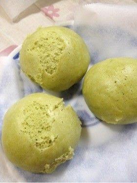 簡単!抹茶蒸し饅頭 Easy! Matcha steamed buns