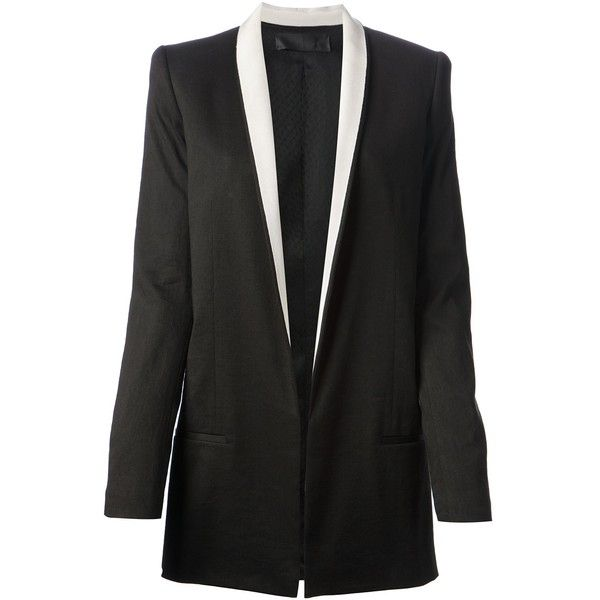 HAIDER ACKERMANN tuxedo boyfriend jacket ($720) found on Polyvore featuring women's fashion, outerwear, jackets, oversized boyfriend jacket, long sleeve jacket, tux jacket, shawl collar jacket and shawl collar tuxedo jacket