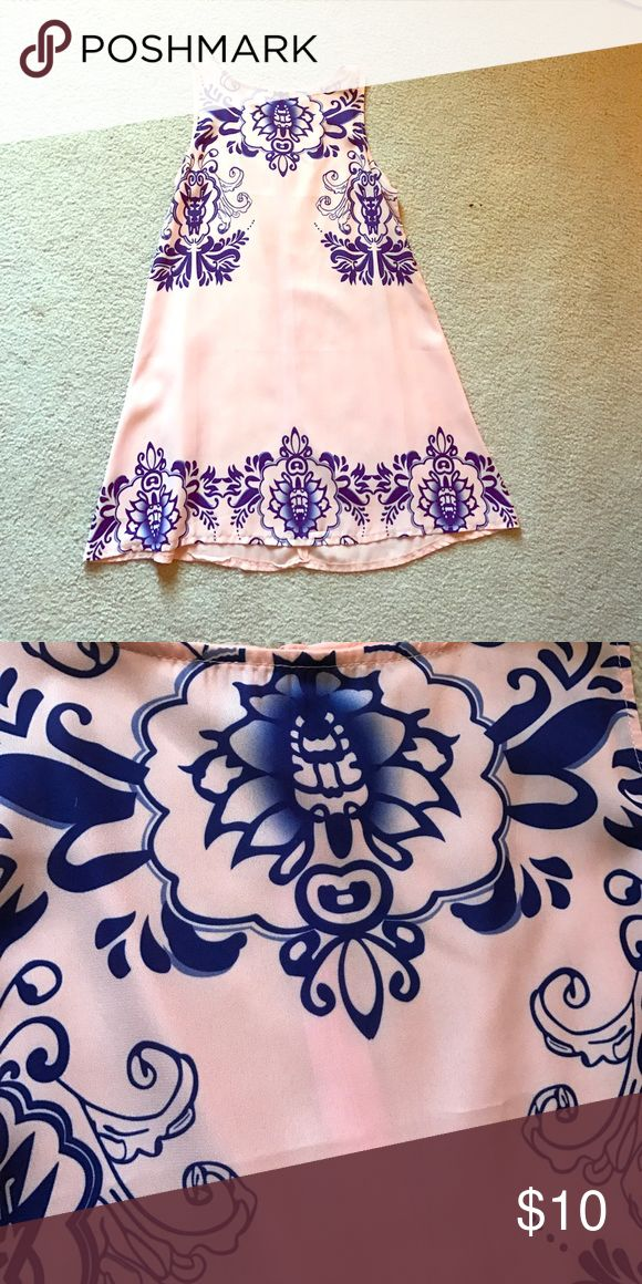Lovely Beach Dress Sweet pink and navy beach dress! Lovely and cute. Never worn. Price negotiable. Dresses