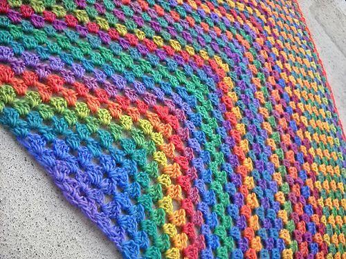 Ravelry: Half Granny Square Shawl pattern by Anastacia Zittel More