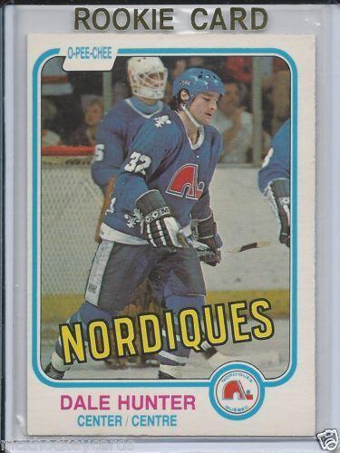 Dale Hunter RC Quebec Nordiques 1981-82 OPC # 277 NM