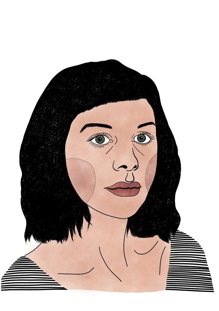 Beautiful Maggie Cole #maggiecole #draw #illustration #portrait #girl #beautiful