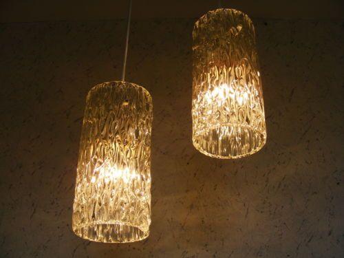 2x-60s-ORREFORS-Carl-Fagerlund-LYFA-Crystal-Pendant-Lamp-Sweden-Doria-Kalmar