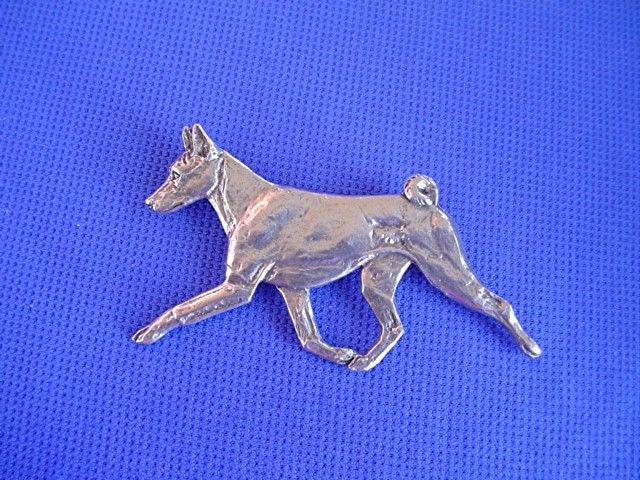 Basenji Pin TROTTING #40A Pewter SightHound Dog Jewelry by Cindy A. Conter
