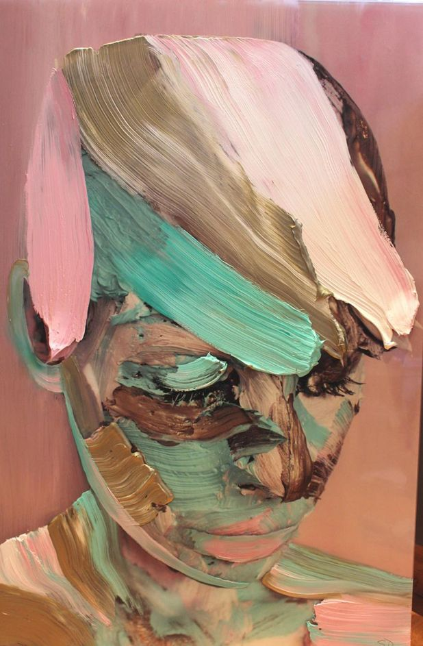Painted self-portraits by Sophie Derrick | http://inagblog.com/2016/05/sophie-derrick/ | #art #paintings