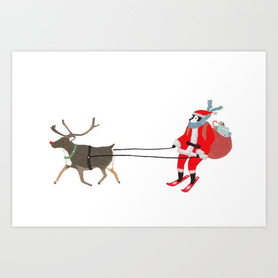 Santa Husky by Miba