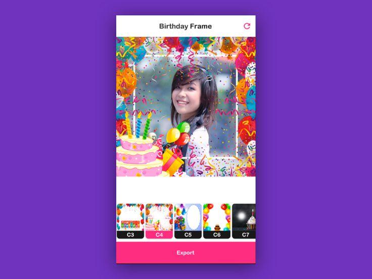 Birthday Photo Frame Maker App