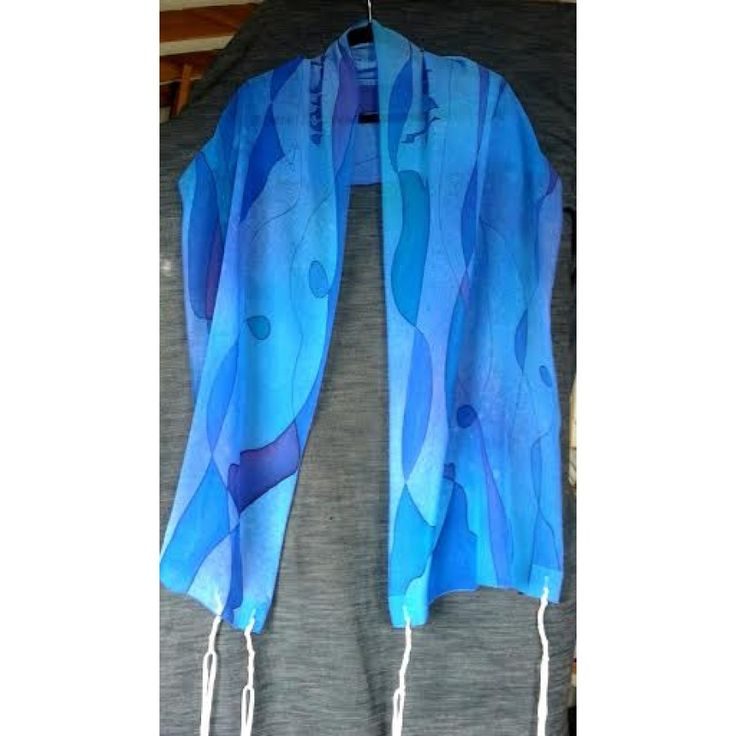 Abstract Tallit in Blue or Brown Tallits