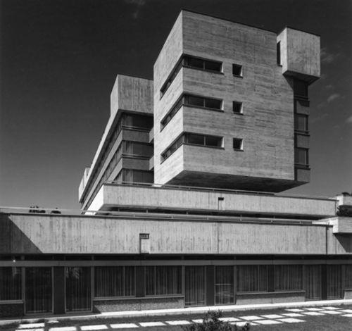 "Hospital ""St Franziskus"" (1967) in Menzingen, Switzerland, by Hanns A. Brütsch"