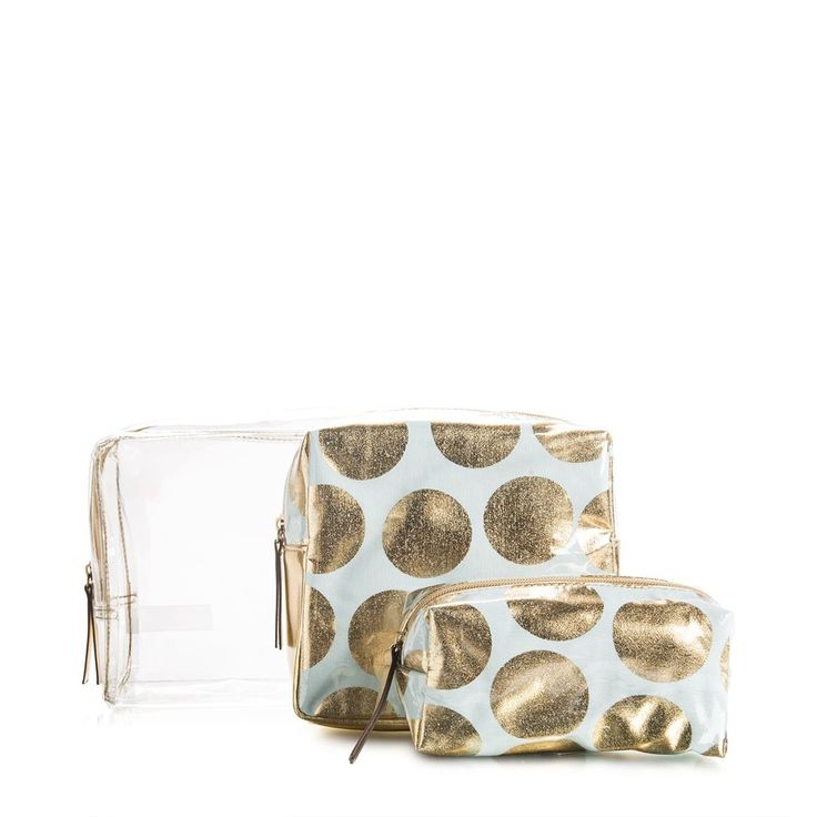 Gold Spot Cosmetic Bag Set