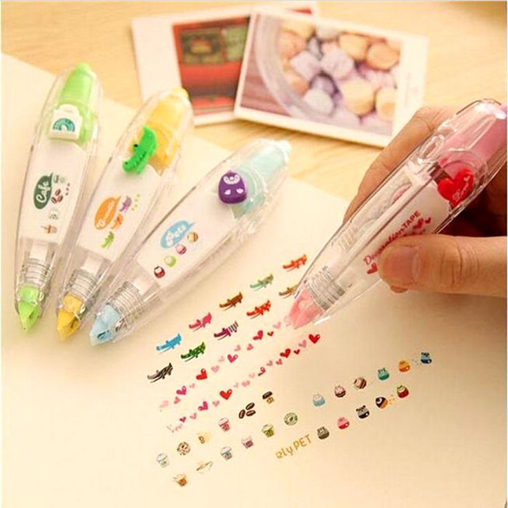4pcs Cute Stationery Push Correction Tape Lace for Key Tag Sign School Supplies  #Unbranded