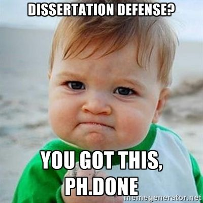 Doctoral dissertation defense video