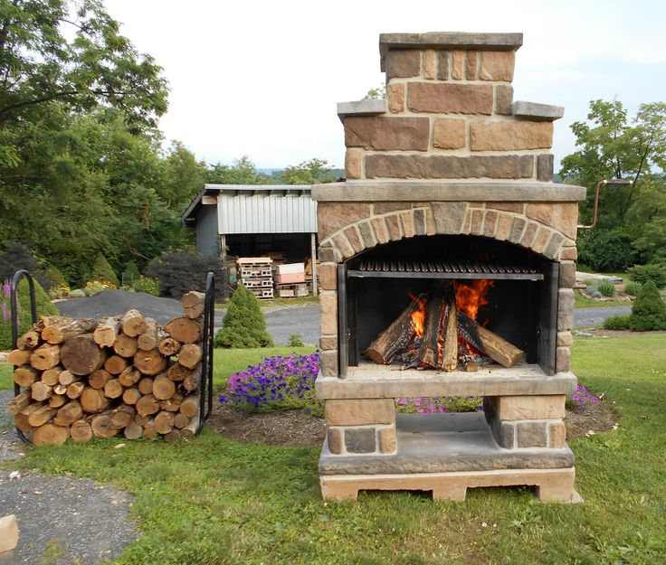 Outdoor Fireplace Kit Exceptional Stone Pinterest Landscaping